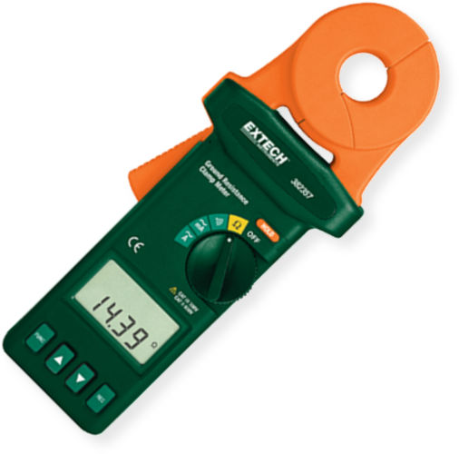 Extech Earth Resistance Tester : Extech clamp on ground resistance tester